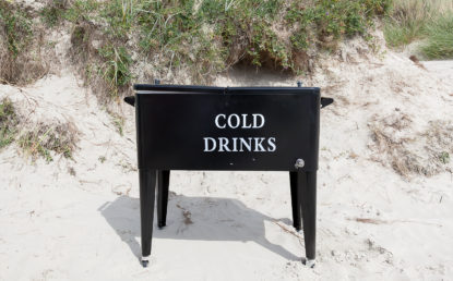 Cold drinks Beach wedding